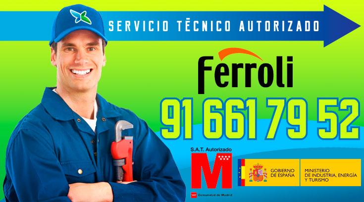 Servicio tecnico Calderas Ferroli Alcobendas