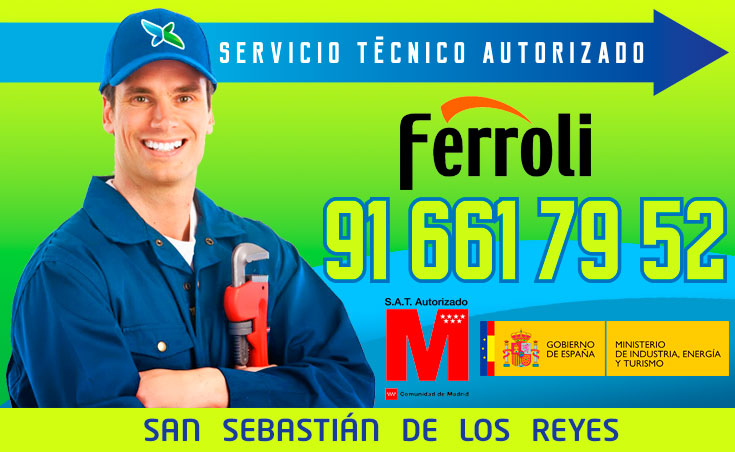 Servicio tecnico Calderas Ferroli San Sebastian de los Reyes