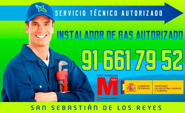 Instalador de gas autorizado San Sebastian de los Reyes