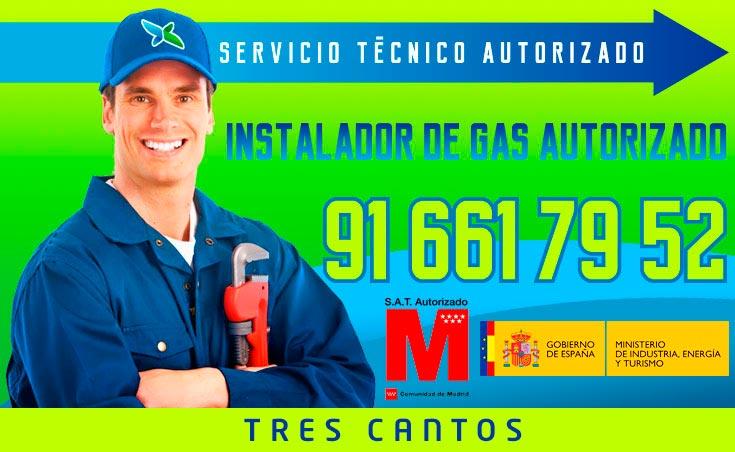 Instalador de gas autorizado Tres Cantos
