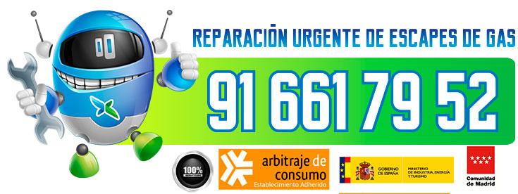 Reparación urgente de fugas de gas natural en Alcobendas