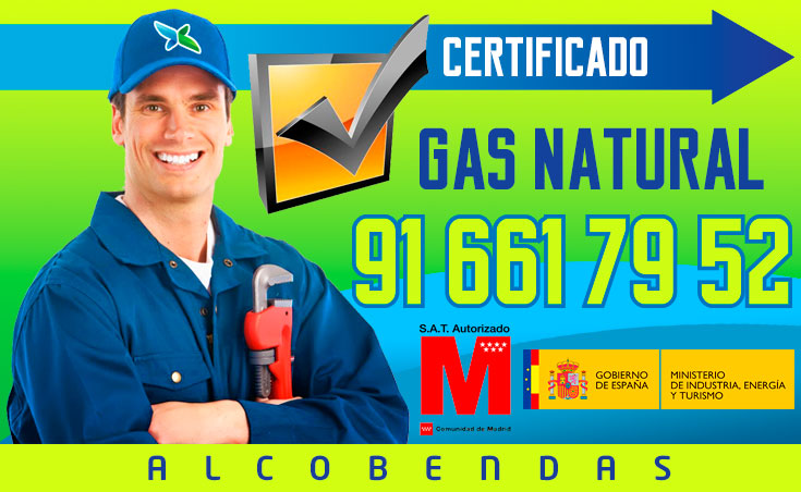 Certificado de gas natural en Alcobendas