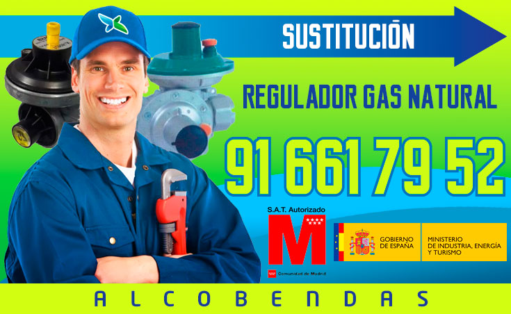 sustitución regulador de gas natural en Alcobendas